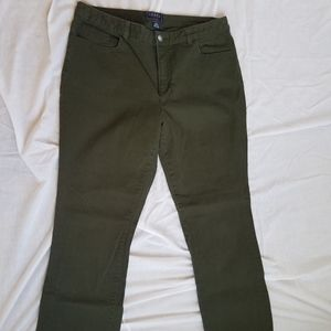 Chaps Madden Straight dk olive colored denim jeans